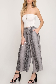 Shoptiques Product: Snakeskin Cropped Pants