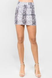Pretty Little Things Snakeskin Denim Skirt - Product Mini Image