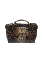Handbag Express Snakeskin Fashion Tote with Butterfly - Product Mini Image