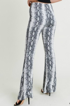 Pretty Little Things Snakeskin Flare Pants - Alternate List Image