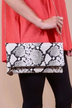 Shoptiques Product: Snakeskin Fold-Over Clutch
