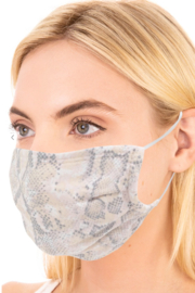 FAME ACCESORIES Snakeskin Mask - Product Mini Image