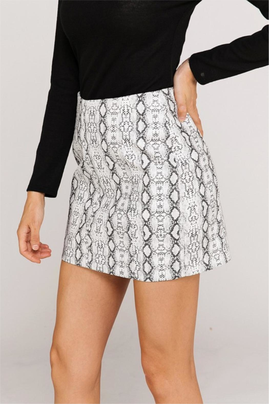 Newbury Kustom Snakeskin Mini Skirt - Side Cropped Image