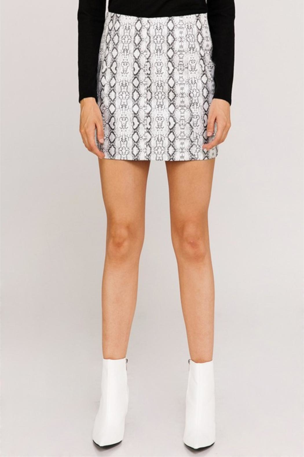 Newbury Kustom Snakeskin Mini Skirt - Main Image