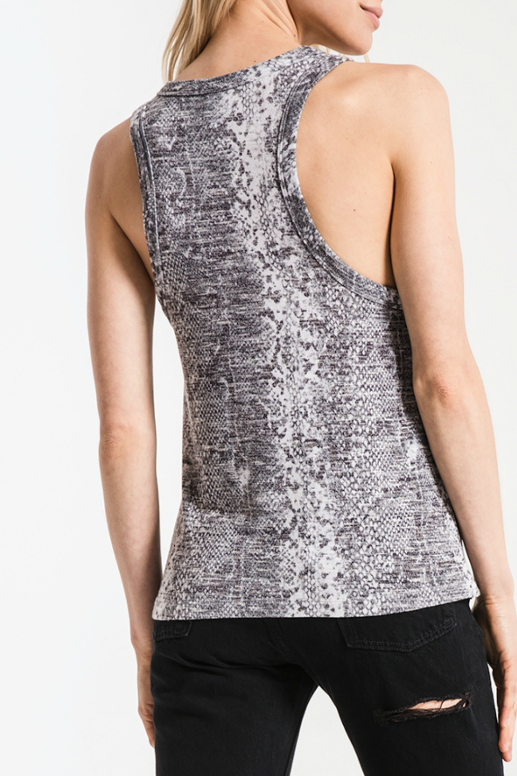 z supply Snakeskin Muscle Tank - Side Cropped Image