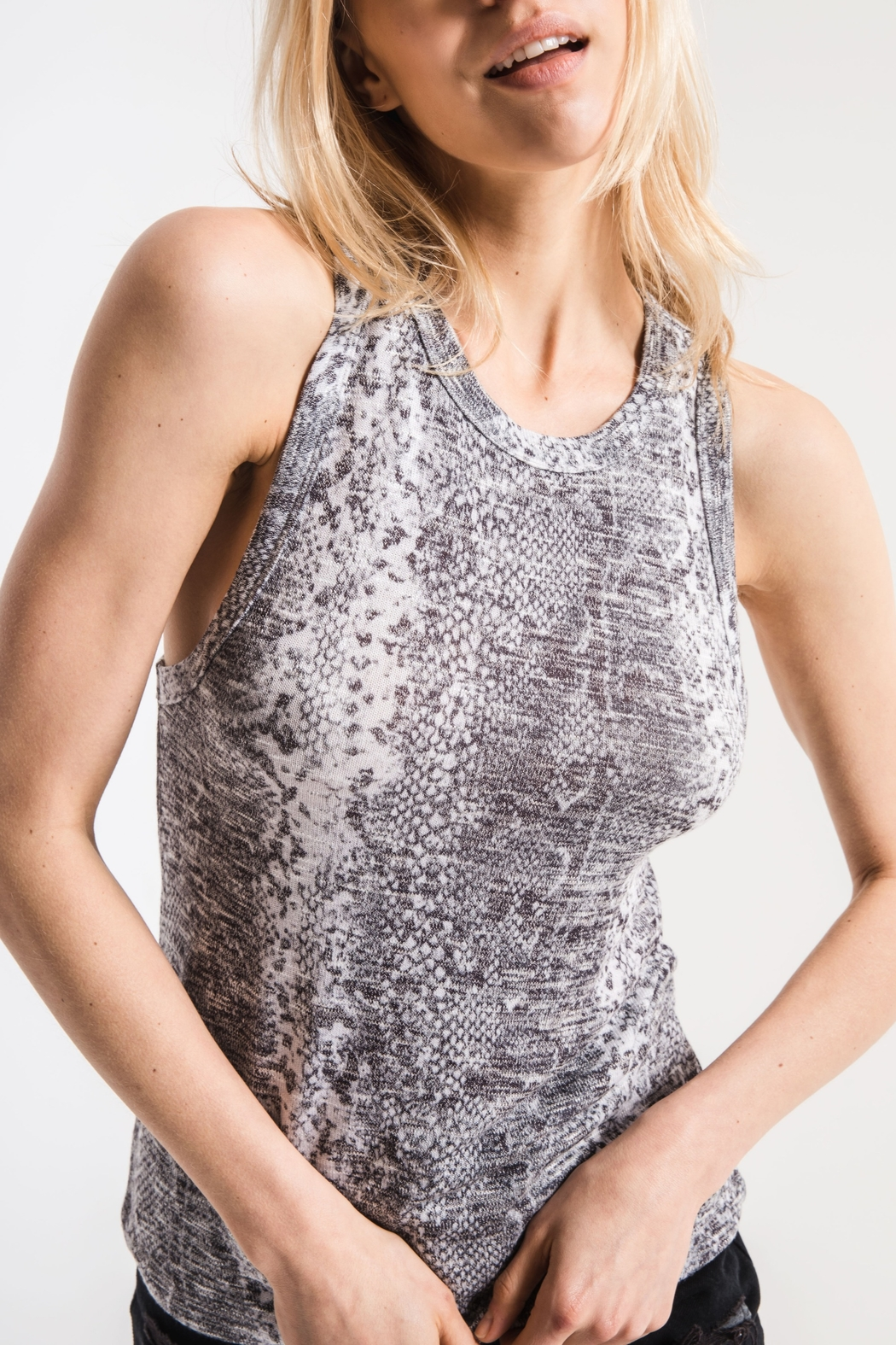 z supply Snakeskin Muscle Tank - Front Cropped Image