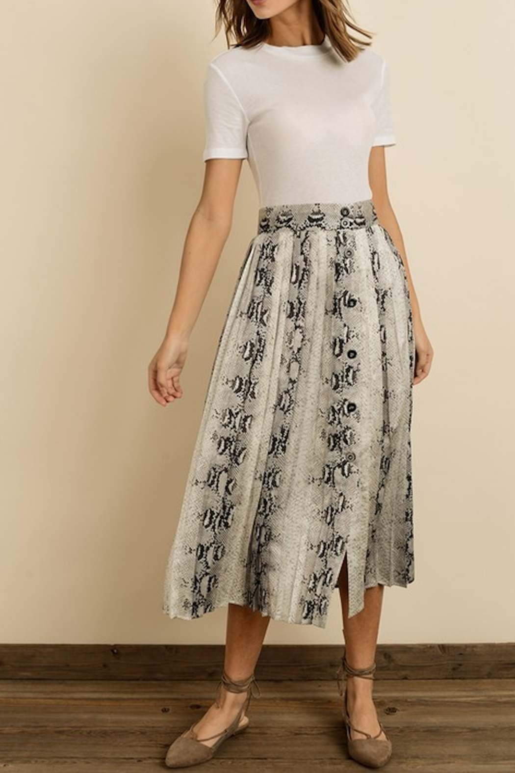 dress forum Snakeskin Pleated Mini Skirt - Main Image