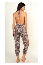 Polly & Esther Snakeskin Print Jumpsuit - Side cropped