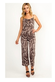 Polly & Esther Snakeskin Print Jumpsuit - Product Mini Image