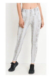 Polly & Esther Snakeskin Print Leggings - Product Mini Image