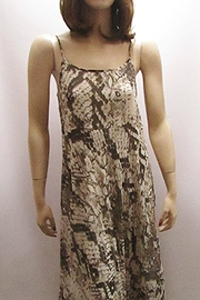 Indian Tropical SNAKESKIN PRINT MAXI CHIFFON DRESS - Product Mini Image