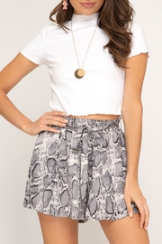 She + Sky Snakeskin Print Shorts - Product Mini Image