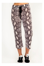 Polly & Esther Snakeskin Print Sweatpants - Product Mini Image