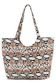 Beloved Snakeskin Printed Tote - Product Mini Image
