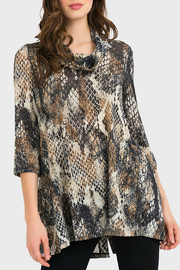 Joseph Ribkoff USA Inc. Snakeskin Shimmer Cowl neck Tunic/Dress - Product Mini Image