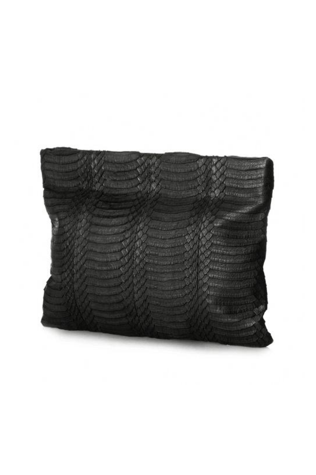 Deux Cuirs (C&C Creative) Snakeskin Springframe Clutch - Front Full Image