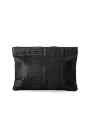 Deux Cuirs (C&C Creative) Snakeskin Springframe Clutch - Front cropped