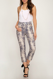 She + Sky Snakeskin Straight Leg Pant - Product Mini Image