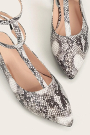 Tiny House of Fashion Snakeskin Strappy Flats - Front full body