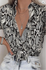 Esley Snakeskin Top - Product Mini Image