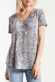 z supply Snakeskin V Neck Tee - Product Mini Image
