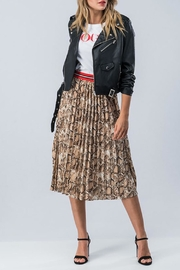 Runway Paris Snakeskin Varsity Skirt - Product Mini Image