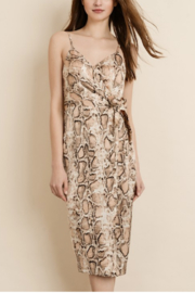 Dress Forum  Snakeskin Wrap Midi Dress - Product Mini Image
