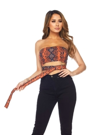 TIMELESS Snakeskin Wrap Top - Product Mini Image