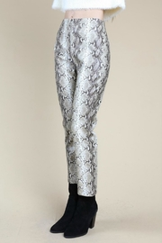 Pretty Little Things Snakeskin Zip-Up Pants - Product Mini Image