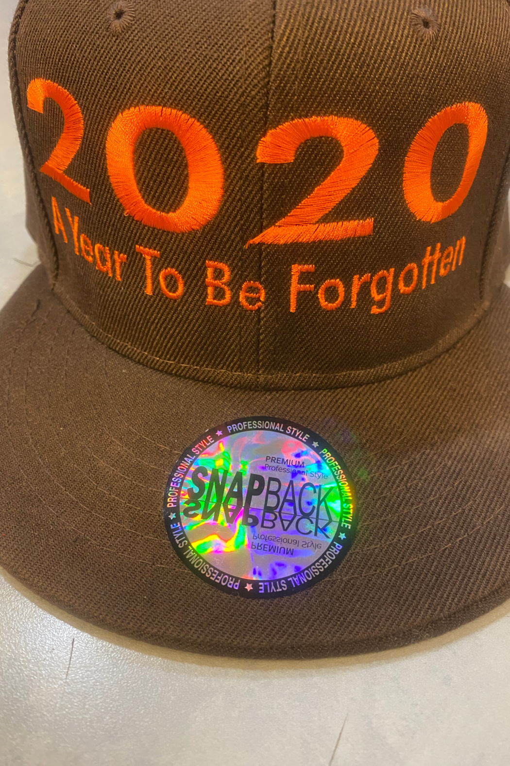 APOLLO'S FINE FASHIONS SNAP BACK CAP (2020 A YEAR TO BE FORGOTTEN) - Main Image