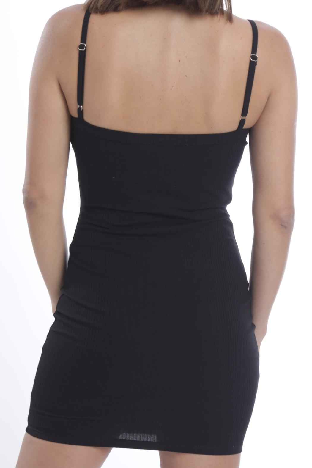 Cattiva Girl Snap-Button Tube Dress - Back Cropped Image