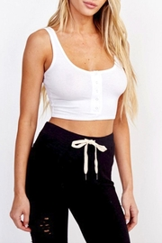 Olivaceous Snap Cropped Top - Product Mini Image
