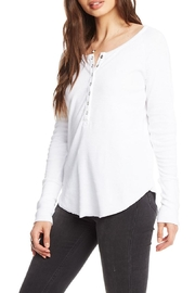 Chaser Snap Front Henley - Front full body
