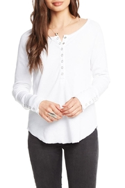 Chaser Snap Front Henley - Front cropped