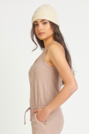 Dex SNAP FRONT RIBBED JUMPSUIT - Product Mini Image