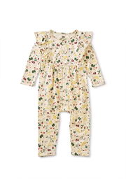 Tea Collection Snap Front Ruffle Romper - Ripe Strawberry - Product Mini Image