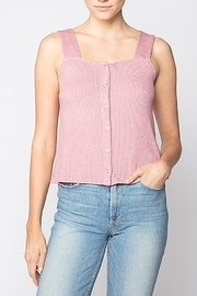Red Haute Snap Front Tank - Front cropped
