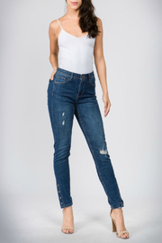 Bianco Jeans Snap & Love Lined Detail Jean - Product Mini Image
