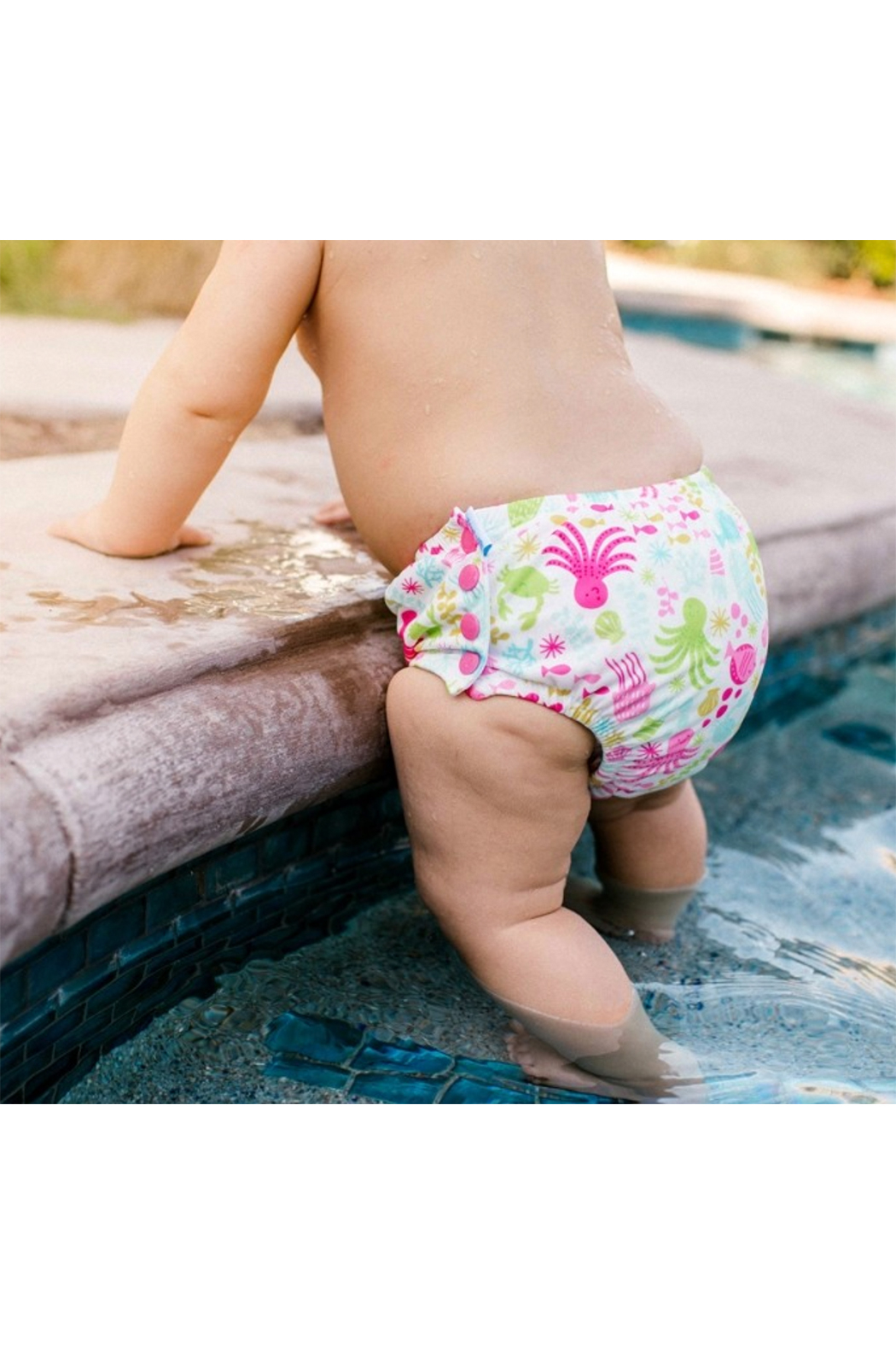 Iplay Snap Reusable Absorbent Swimsuit Diaper - Front Full Image