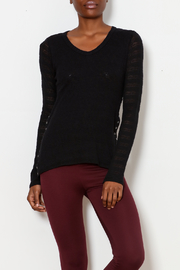 Pete (cotton generation) Snap Side Contrast Knit Top - Product Mini Image