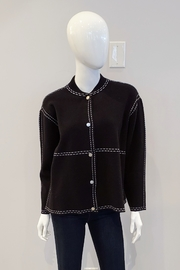 Patrizia Luca Snap Sweater Jacket - Product Mini Image