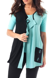 Angel Apparel Snap Two-Tone Vest - Product Mini Image