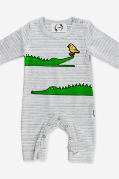 T & Tim Snappy Crocodile Romper - Product List Image
