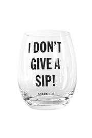 Snark City Don't Give Wine Glass - Front cropped