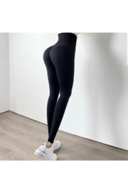 Tiny House of Fashion Snatched Leggings - Front full body