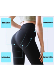Tiny House of Fashion Snatched Leggings - Back cropped