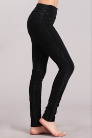 Chatoyant  Snazzy Lace Leggings For Long Legs - Front cropped