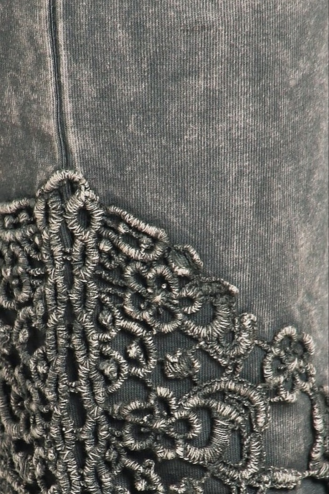 Chatoyant  Snazzy Lace Leggings For Long Legs - Front Full Image
