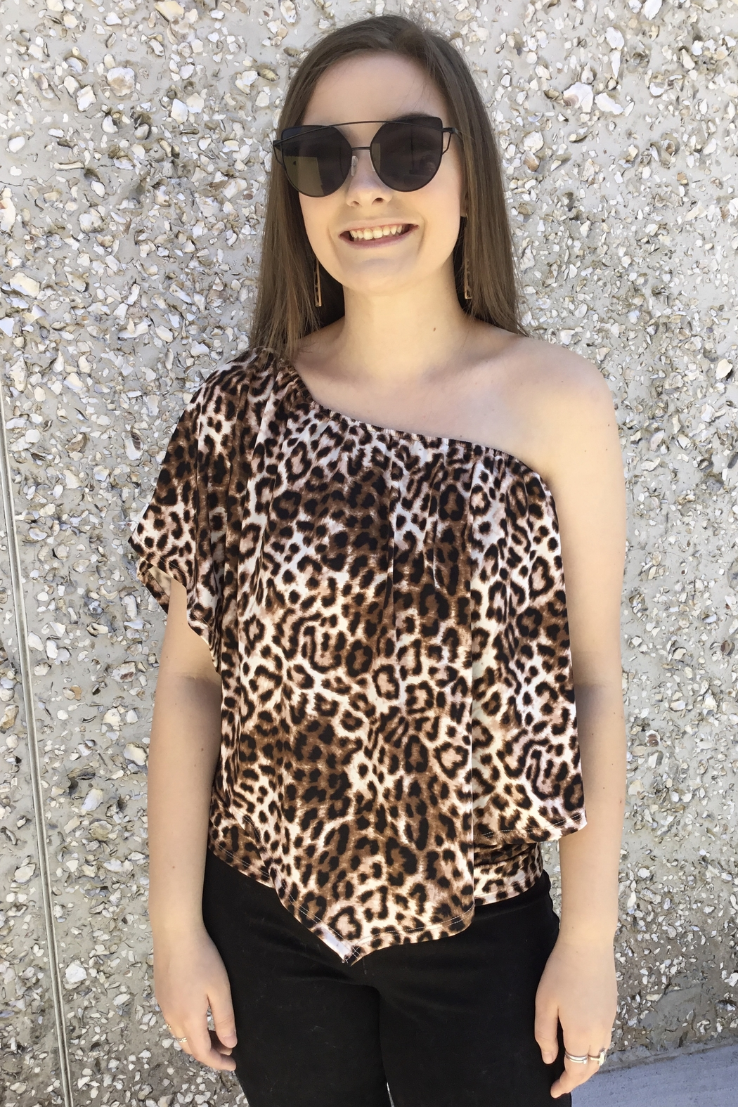 Wild And Personal Snazzy Leopard Print 4 Way Top - Main Image