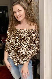 Wild And Personal Snazzy Leopard Print 4 Way Top - Front cropped